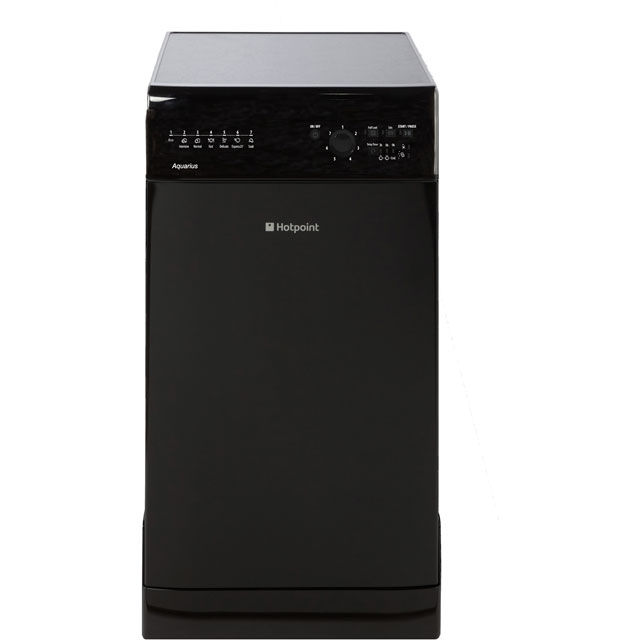 Hotpoint Aquarius SIAL11010K Slimline Dishwasher - Black - A+ Rated - SIAL11010K_BK - 1