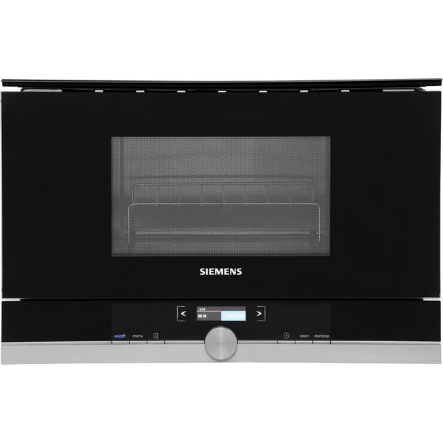 Siemens IQ-700 BE634LGS1B Built In Microwave With Grill - Black / Stainless Steel - BE634LGS1B_SS - 1