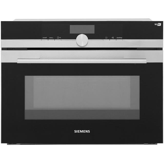 Siemens IQ-700 CM676GBS6B Built In Compact Electric Single Oven with Microwave Function - Stainless Steel