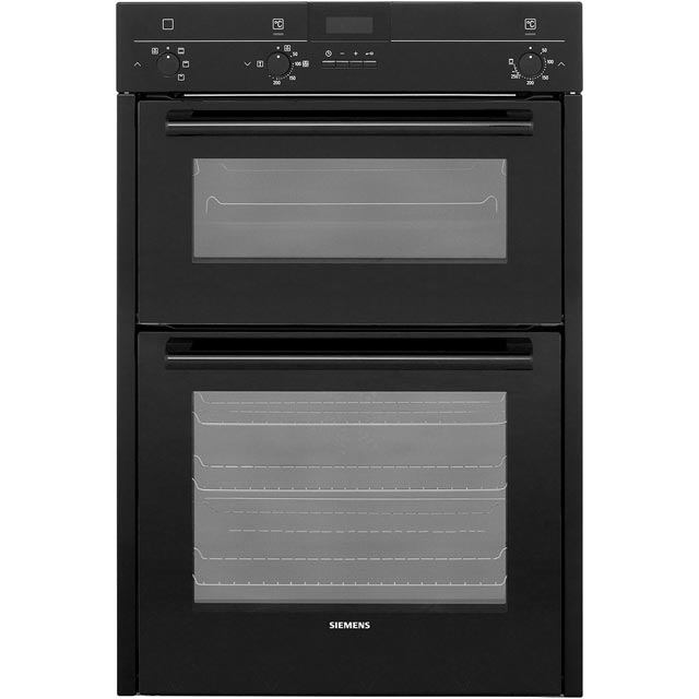 Siemens HB13MB621B Black, iQ100 Electric Built-in Double Oven lowest price