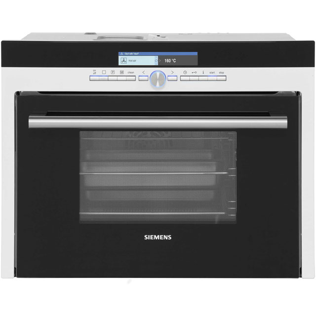 Siemens IQ-700 HB36D275B Built In Compact Steam Oven - White - HB36D275B_WH - 1