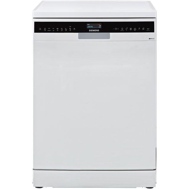 Siemens IQ-500 SN258W06TG Wifi Connected Standard Dishwasher - White - A+++ Rated - SN258W06TG_SS - 1