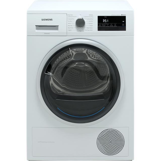Siemens IQ-300 WT45M232GB Heat Pump Tumble Dryer - White - WT45M232GB_WH - 1