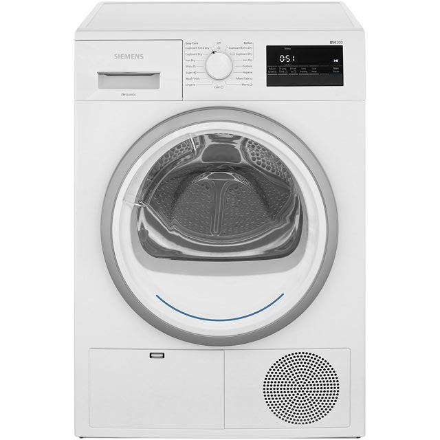 Siemens IQ-300 WT45N200GB Free Standing Condenser Tumble Dryer in White