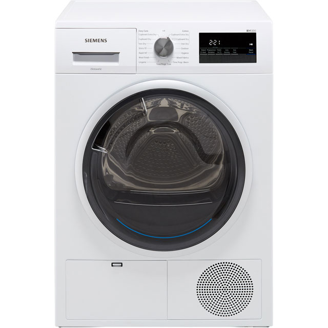 Siemens IQ-300 WT45N201GB 8Kg Condenser Tumble Dryer - White - B Rated