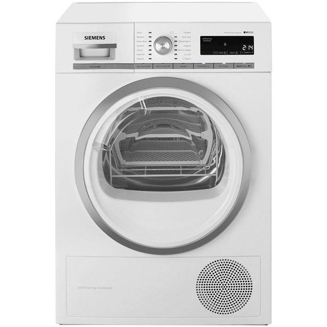 Siemens IQ-500 WT47W590GB Free Standing Condenser Tumble Dryer in White