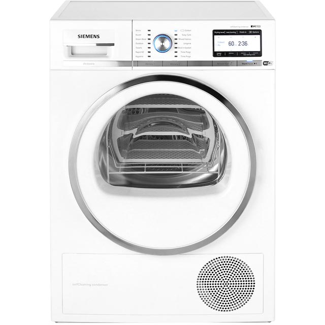 Siemens IQ-700 WT4HY790GB Free Standing Condenser Tumble Dryer in White