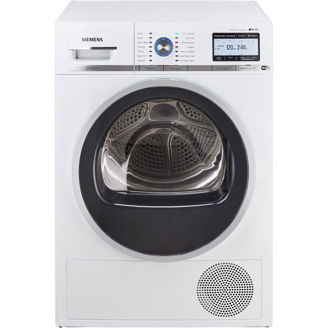 Siemens IQ-700 WT4HY791GB Wifi Connected 9Kg Heat Pump Tumble Dryer - White - A++ Rated - WT4HY791GB_WH - 1