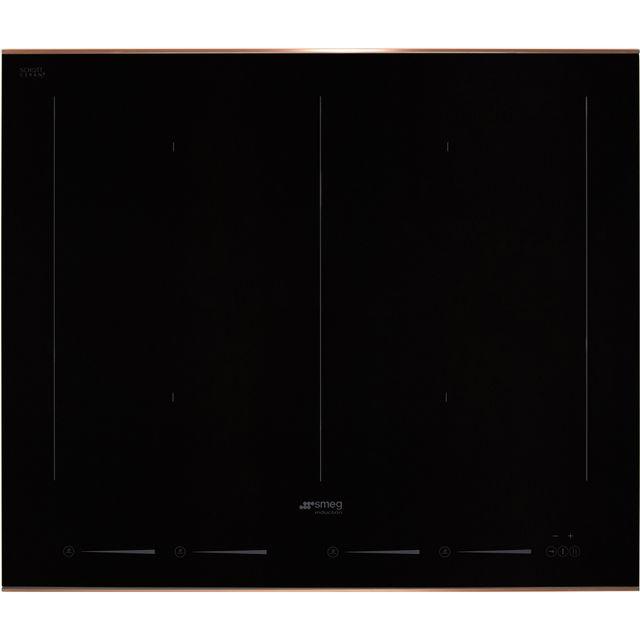 Smeg Dolce Stil Novo SIM662WLDR 60cm Induction Hob – Black / Copper