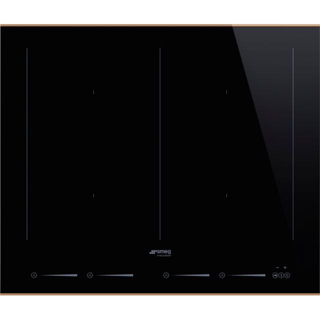 Smeg Dolce Stil Novo SIM662WLDR Built In Induction Hob - Black / Copper - SIM662WLDR_BKC - 1