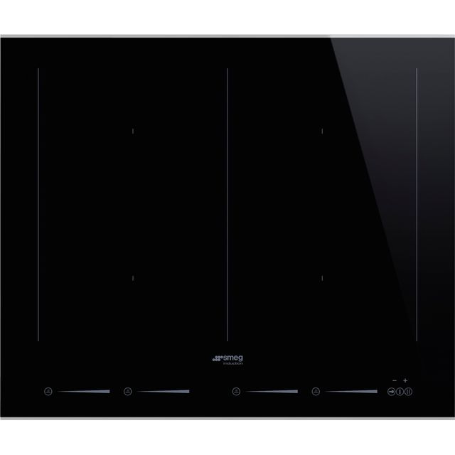 Smeg Dolce Stil Novo SIM662WLDX 60cm Induction Hob - Black / Stainless Steel