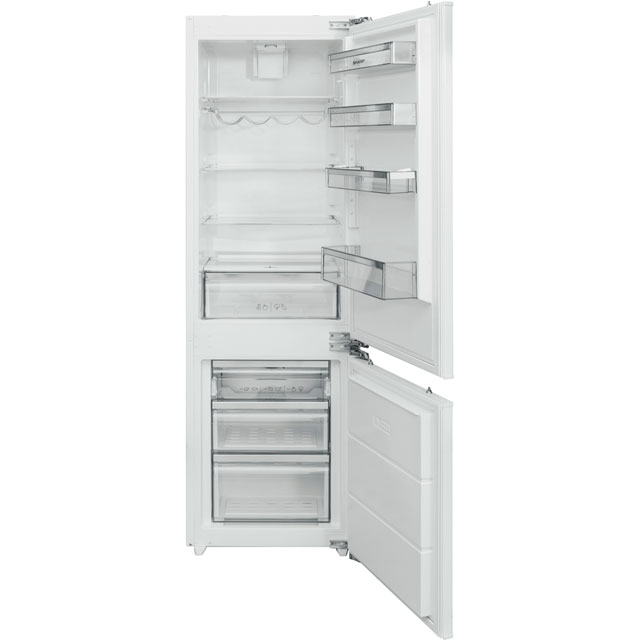 Sharp Integrated 60/40 Frost Free Fridge Freezer with Fixed Door Fixing Kit - White - A+ Rated