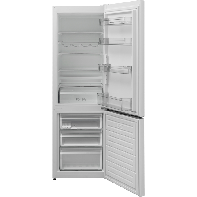Sharp SJ-BB04DTXW1-EN 60/40 Frost Free Fridge Freezer - White - A+ Rated Best Price, Cheapest Prices