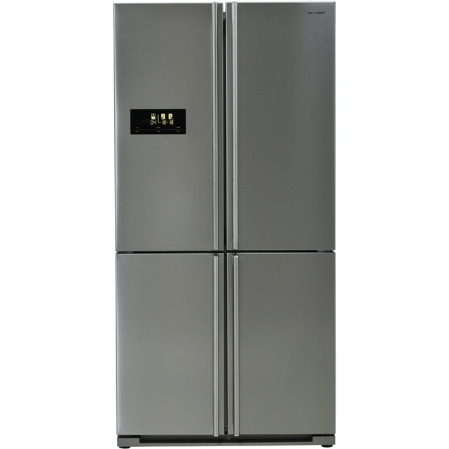 Sharp SJ-F1526E0I American Fridge Freezer - Stainless Steel - A+ Rated - SJ-F1526E0I_SS - 1