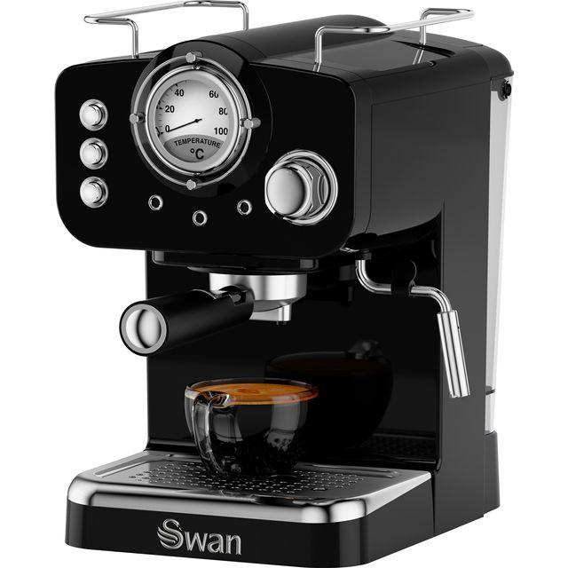 Swan Retro SK22110BN Espresso Coffee Machine - Black