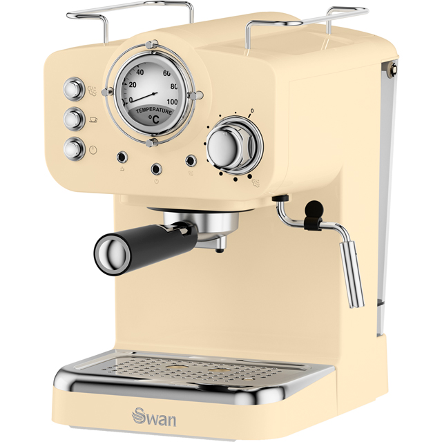Swan Retro SK22110CN Espresso Coffee Machine - Cream - SK22110CN_CR - 1