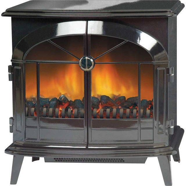 Dimplex Stockbridge Log Effect / Coal Bed Electric Stove With Remote Control - Black