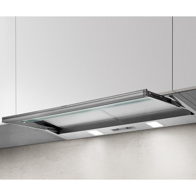 Elica SKLOCK-LED-60 56 cm Telescopic Cooker Hood - Silver - D Rated - SKLOCK-LED-60_SI - 1