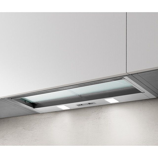 Elica SKLOCK-LED-60 56 cm Telescopic Cooker Hood - Silver - D Rated
