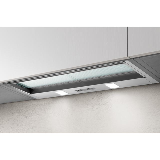 Elica SKLOCK-LED-90 86 cm Telescopic Cooker Hood - Silver - D Rated - SKLOCK-LED-90_SI - 1