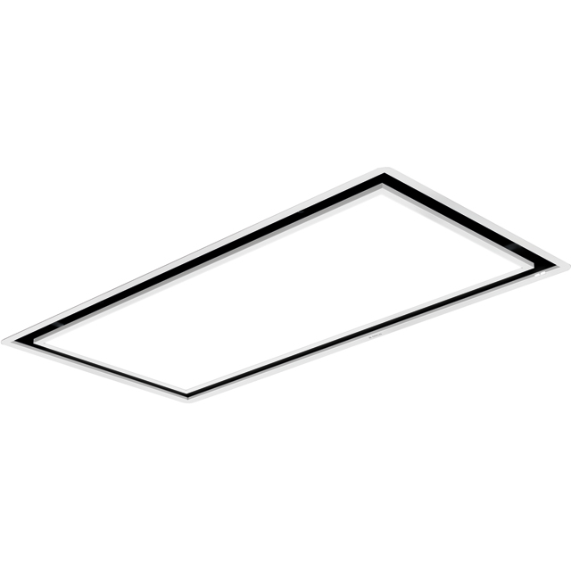 Elica Skydome H30 100 cm Ceiling Cooker Hood - White - A Rated