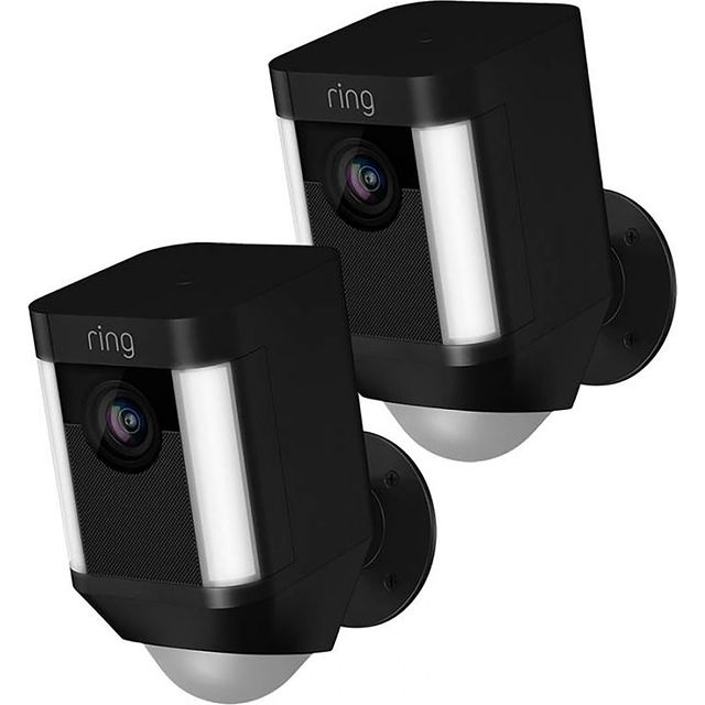 Ring Spotlight Cam Wired (Twin Pack) -Full HD 1080p - Black - SLCB-BUN - 1