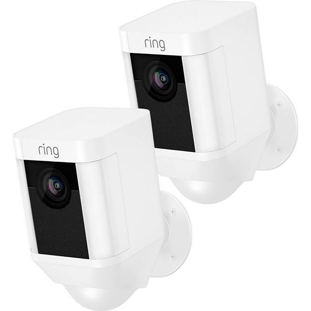 Ring Spotlight Cam Wired (Twin Pack) -Full HD 1080p - White - SLCW-BUN - 1