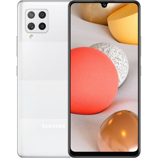 Samsung Galaxy A42 5G Smartphone SIM-Free Android Mobile Phone Prism Dot White (UK Version)