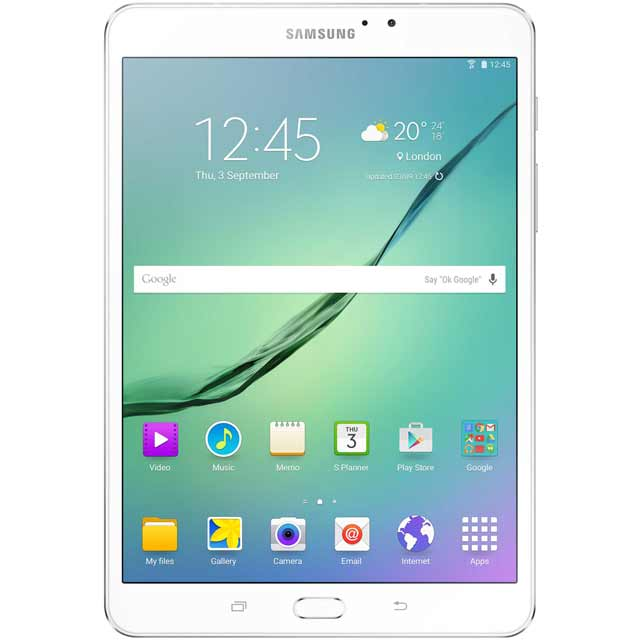 "Samsung Galaxy Tab S2 8"" QXGA 32GB WiFi Tablet including free AKG C50 Wireless Headphones - White"