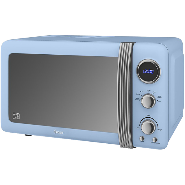 Swan Retro SM22030BLN 20 Litre Microwave - Blue
