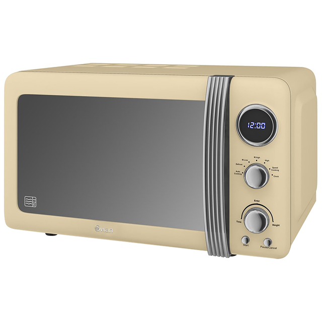 Swan Retro SM22030CN Microwave - Cream - SM22030CN_CR - 1