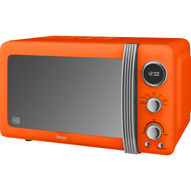 Swan Retro SM22030ON Free Standing Microwave Oven in Orange
