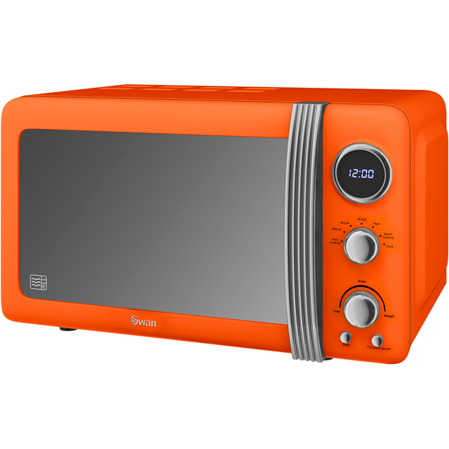 Swan Retro SM22030ON 20 Litre Microwave - Orange - SM22030ON_OR - 1
