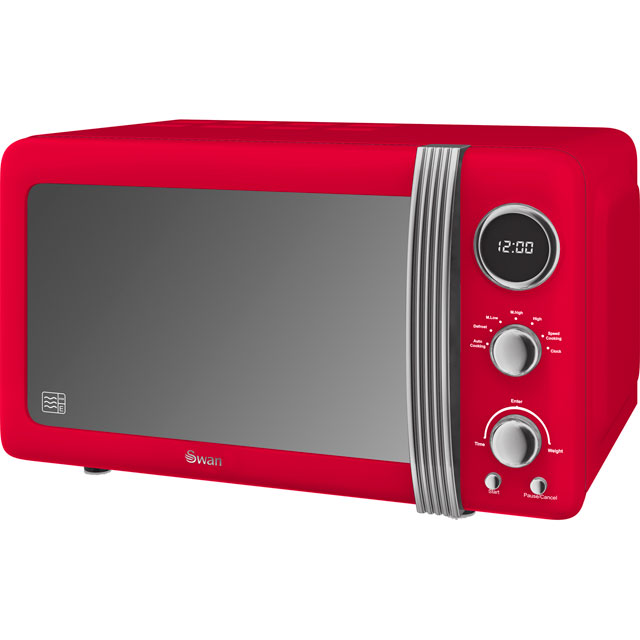 Swan Retro Sm22030rn 20 Litre Microwave Red
