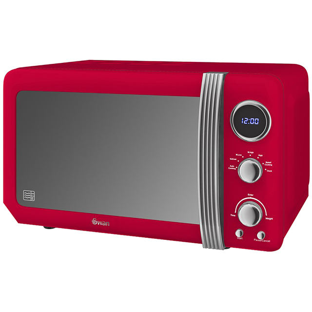 Swan Retro SM22030RN 20 Litre Microwave - Red - SM22030RN_RD - 1