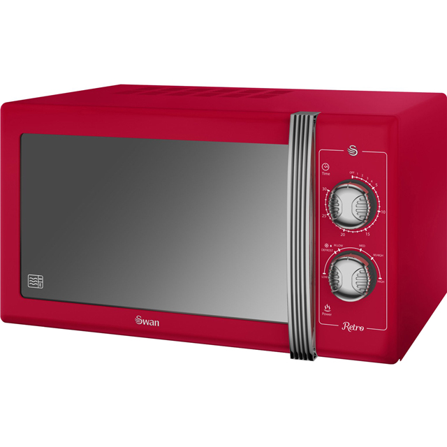 Swan Retro SM22070RN 25 Litre Microwave - Red - SM22070RN_RD - 1