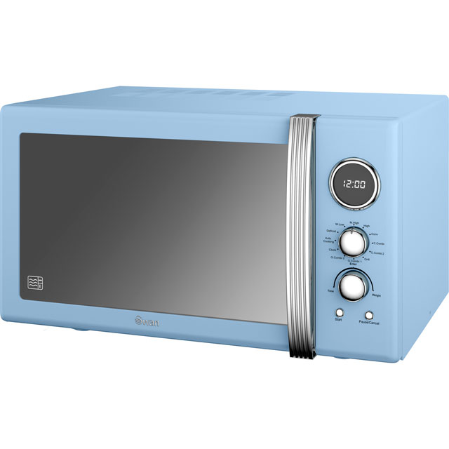 Swan Retro Digital SM22080BLN 25 Litre Combination Microwave Oven - Blue