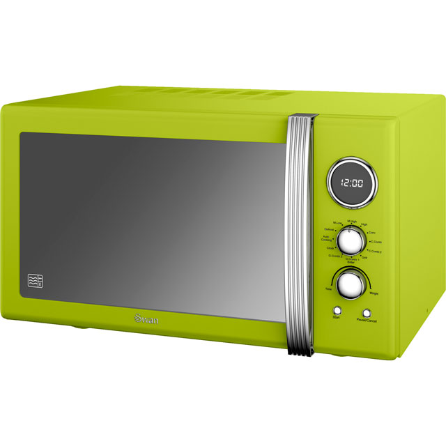 Swan Retro Digital SM22080LN 25 Litre Combination Microwave Oven - Lime Green