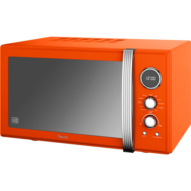 Swan Retro Digital SM22080ON 25 Litre Combination Microwave Oven - Orange