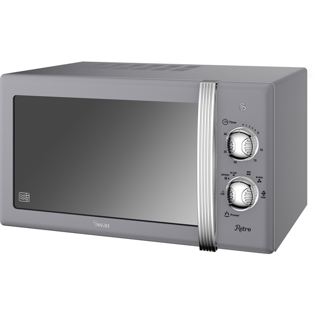 Swan Retro Manual SM22130GRN Microwave - Grey - SM22130GRN_GY - 1