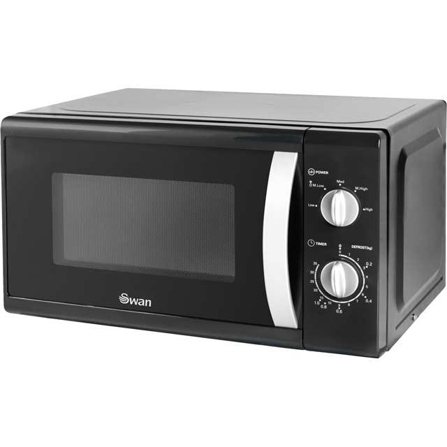 Swan Free Standing Microwave Oven in Black