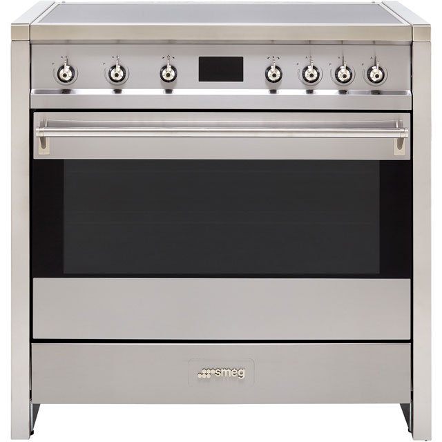 Smeg Opera A1PYID-9 90cm Electric Range Cooker with Induction Hob - Stainless Steel - A+ Rated - A1PYID-9_SS - 1