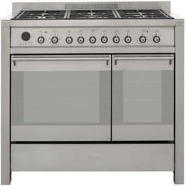 Smeg Opera A2-8 100cm Dual Fuel Range Cooker - Stainless Steel - A/B Rated - A2-8_SS - 1