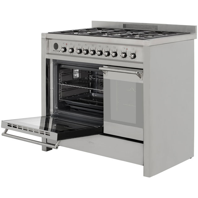 Smeg A2-8 Opera 100cm Dual Fuel Range Cooker - Stainless Steel - A2-8_SS - 2
