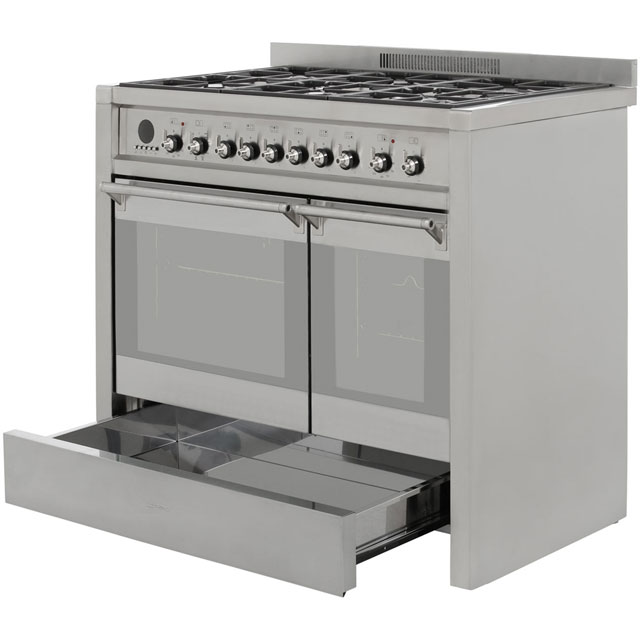 Smeg A2-8 Opera 100cm Dual Fuel Range Cooker - Stainless Steel - A2-8_SS - 3