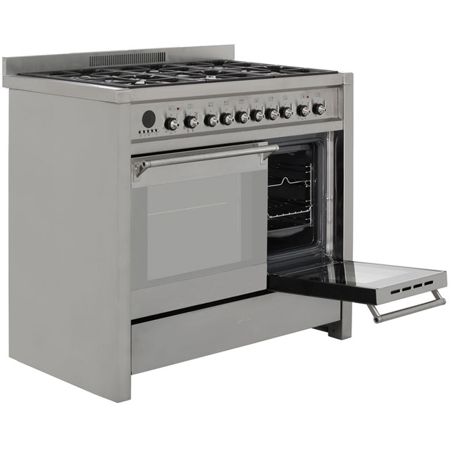 Smeg A2-8 Opera 100cm Dual Fuel Range Cooker - Stainless Steel - A2-8_SS - 4