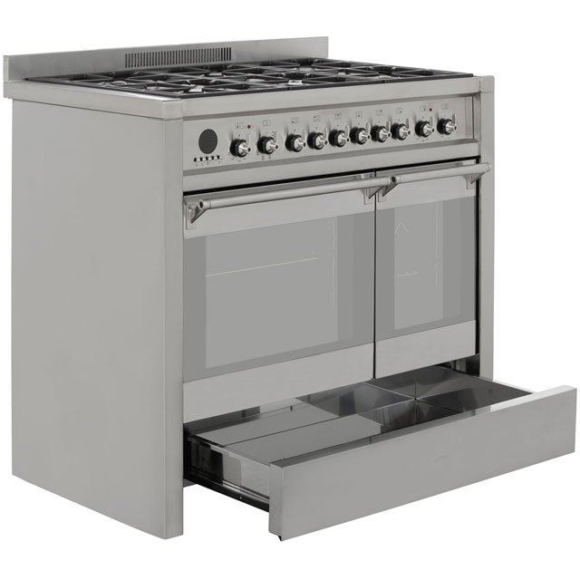 Smeg A2-8 Opera 100cm Dual Fuel Range Cooker - Stainless Steel - A2-8_SS - 5