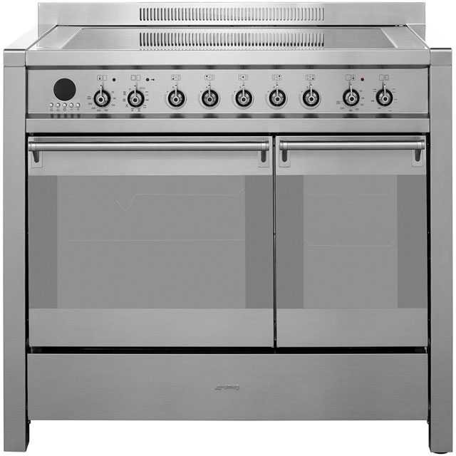 Smeg Opera 100cm Electric Range Cooker with Induction Hob - Stainless Steel - A/B Rated