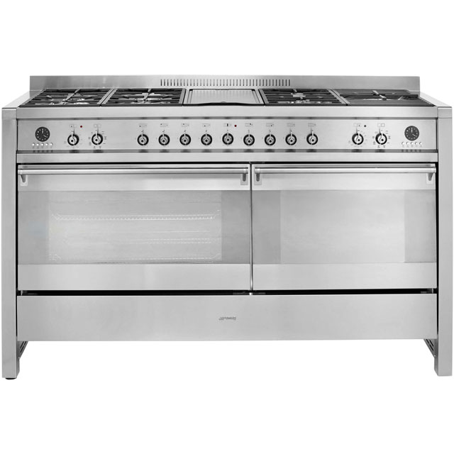 Smeg Opera A5-8 150cm Dual Fuel Range Cooker - Stainless Steel - B/A Rated - A5-8_SS - 1