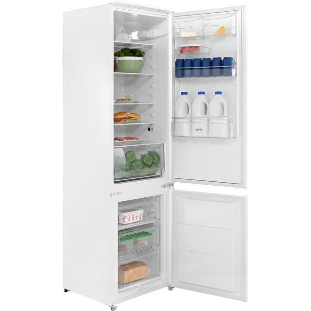 Smeg C3180FP Integrated 70/30 Fridge Freezer with Sliding Door Fixing Kit - White - A+ Rated - C3180FP_WH - 1